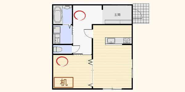 2畳型ホームジム、ダンベルの置く場所